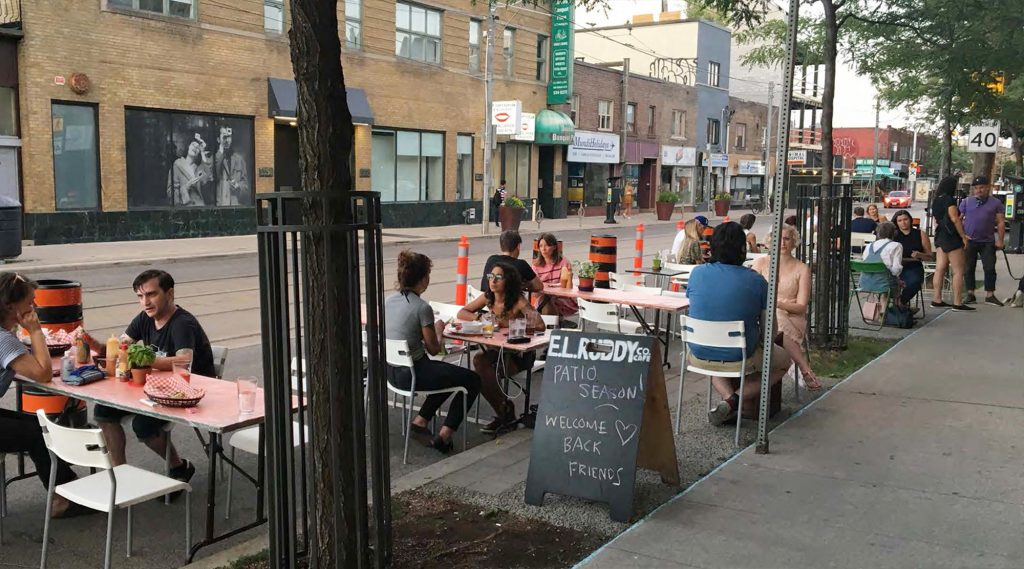 CafeTO curbside patio